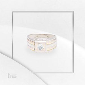 anillo-plata-oro-circon-blanco-diamante-lineas-dorado-plateado