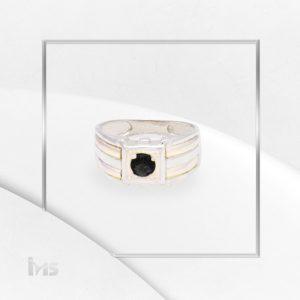 anillo-plata-oro-circon-negro-onix-lineas-dorado-plateado
