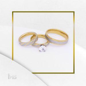 anillo compromiso matrimonio solitario acero dorado plateado circon diseño