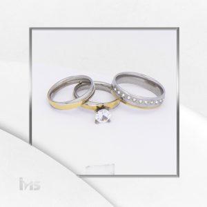 anillos acero compromiso matrimonio solitario alianza circones