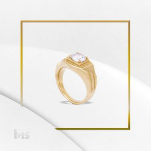 anillo para hombre acero dorado piedra caballero ovalado fino