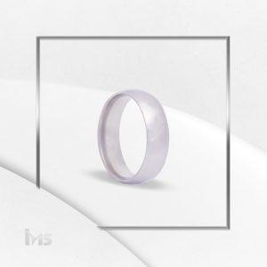 anillo sencillo acero plateado para hombre