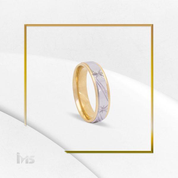 anillo acero dorado plateado hombre