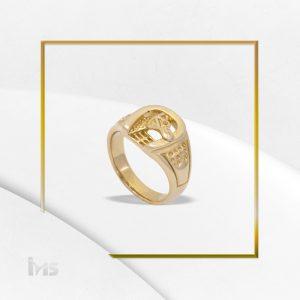 anillo acero hombre herradura dorado suerte caballo equino grande
