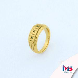 anillo de acero quirurgico para caballero hombre dorado