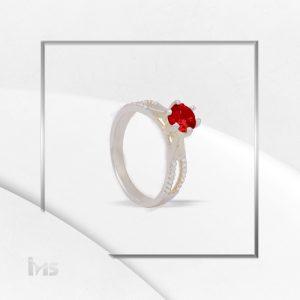 anillo mujer solitario rojo compromiso promesa boda novia novios