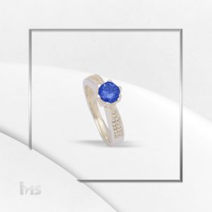 anillo mujer solitario azul compromiso promesa boda novia novios