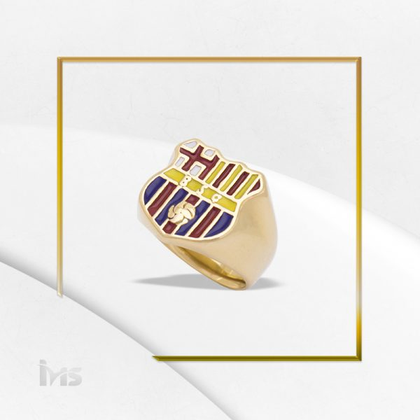 barcelona anillo hombre grande lsencillo escudo