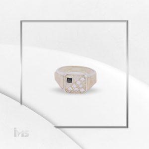 anillo oro plata para hombre circon negro microcircones