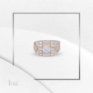 anillo oro plata para hombre circon brillante microcircones