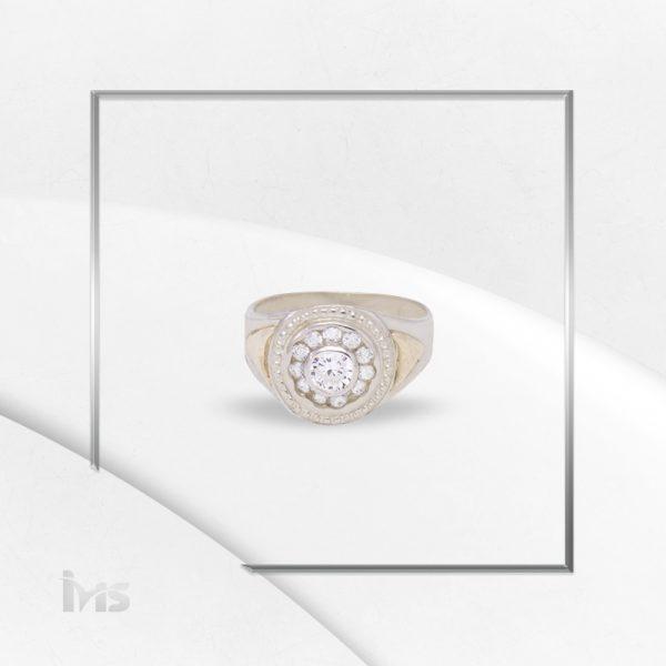 anillo oro plata circones corte brilante redondo para hombre blanco