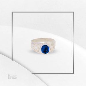 anillo oro plata para hombre estrella de david circon blanco
