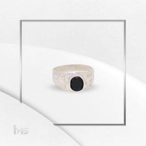 anillo oro plata para hombre estrella de david circon negro onix