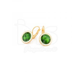 arete-oro-goldfilled-bañado-laminado-semijoya-para-dama-mujer-dorado-plateado-cristales-redondos-verdes