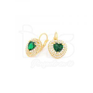 arete-oro-goldfilled-bañado-laminado-semijoya-para-dama-mujer-dorado-plateado-cristales-corazon-verde