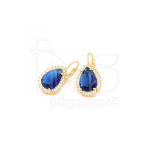 arete-oro-goldfilled-bañado-laminado-semijoya-para-dama-mujer-dorado-plateado-cristales-azul-gota