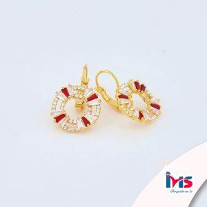 arete-oro-goldfilled-bañado-laminado-semijoya-para-dama-mujer-dorado-plateado-cristales-rojo