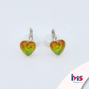 arete-oro-goldfilled-bañado-laminado-semijoya-para-dama-mujer-dorado-plateado-cristales-corazon-verde-naranja