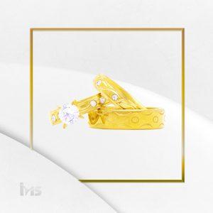 set-anillos-acero-dorado-aros-solitario-alianzas-promocion