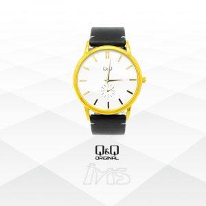 reloj-qyq-original-para-dama-mujer-correa-de-cuero-sintetico-negro-cuerpo-acero-dorado-elegante