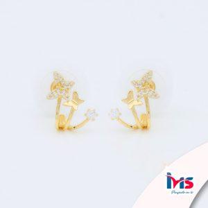 arete-acero-quirúrgico-para-dama-mujer-dorado-trepador-doble-mariposas-cristales
