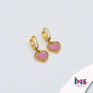 arete-argolla-hoop-para-dama-mujer-acero-quirurgico-dorado-microcircones-corazon-rosado-colgante