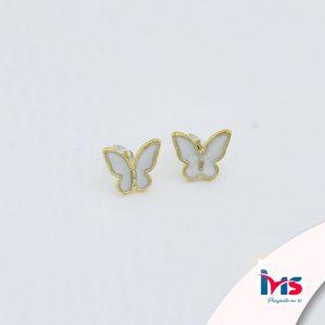 aretes-para-dama-mujer-acero-quirúrgico-dorado-microcircones-nacar-mariposas-pequeñas