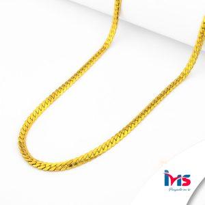 cadena-acero-quirúrgico-hombre-mujer-dorado-tejido-lomo-de-corvina-60-cm