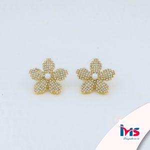 arete-acero-dorado-para-dama-mujer-cristales-flor