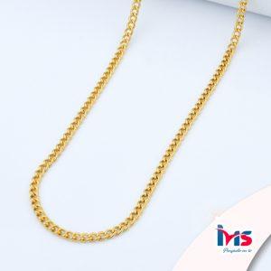 cadena-acero-quirúrgico-hombre-mujer-dorado-tejido-lomo-60-cm
