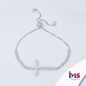 pulsera-para-dama-mujer-acero-quirurgico-cordon-ajustable-cruz