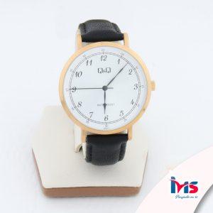 reloj-qyq-original-acero-resistente-al-agua-analogo-correo-de-cuero-negro-bisel-dorado