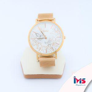 reloj-qyq-original-acero-resistente-al-agua-analogo-metalica-oro-rosa
