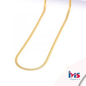 cadena-acero-quirúrgico-hombre-mujer-dorado-tejido-cola-topo-50-cm