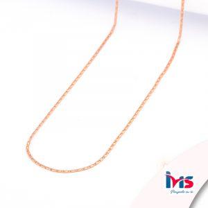cadena-acero-quirúrgico-hombre-mujer-oro-rosa-tejido-adije-45-cm
