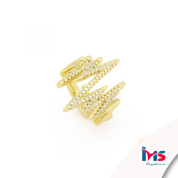 anillo de acero quirurgico dorado microcircones signos vitales