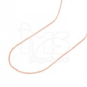 cadena-acero-quirúrgico-hombre-mujer-oro-rosa-tejido-eslabon-46-cm