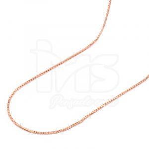 cadena-acero-quirúrgico-hombre-mujer-oro-rosa-tejido-veneciana-50-cm